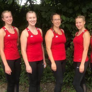 Magdalena Jurisch, Sabrina Bürßner, Carina Paukstadt, Franziska Bötzer, Alina Bötzer und Sarah Bötzer vom RMSV Aach, 26.07.2020